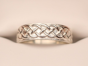 Celtic Wedding Band Braid Size 7 in Polished Silver