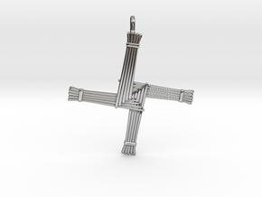 Brigid's cross in Antique Silver: Small