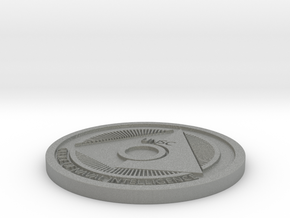 Office of Naval Intelligence ONI Themed Coaster in Gray Professional Plastic