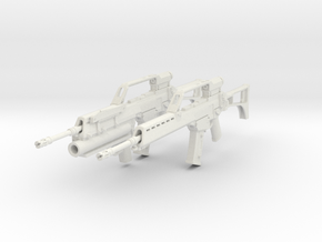 1/10.5 Heckler Koch Rifle G36E Export Set201 in White Natural Versatile Plastic