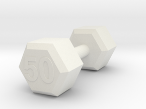 dumbbell 50 weight in White Natural Versatile Plastic