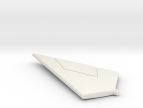 F-111TACT-144scale-WingsBack-04-LeftStabilizer in White Natural Versatile Plastic