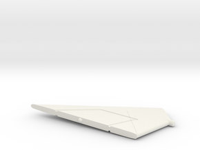 F-111TACT-144scale-WingsBack-05-RightStabilizer in White Natural Versatile Plastic