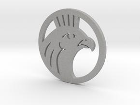 Medium Size Round Featuring Horus in Aluminum