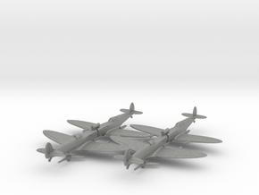 1/200 Spitfire MK VC x4 in Gray Professional Plastic