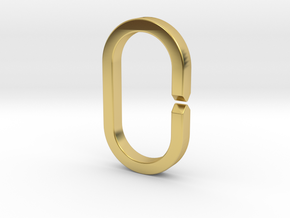 LARGE RING (Quick-Release Key System) in Polished Brass