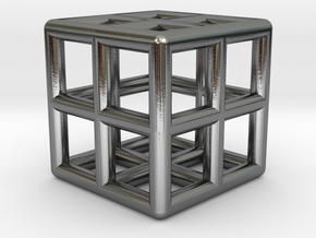 Cube Lattice in Polished Silver