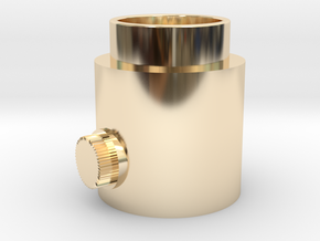 Button Knob in 14K Yellow Gold