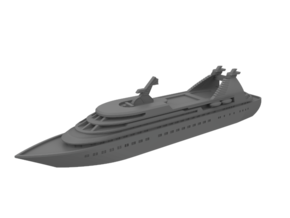 1:1250 Miniature Seabourn Legend - Miniature Ship in Smooth Fine Detail Plastic: 1:1250