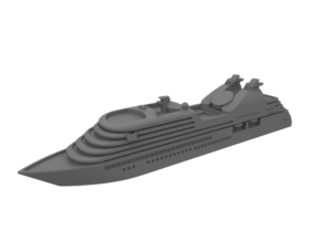 1:1250 Miniature Seabourn Odessey Miniature Ship in Smooth Fine Detail Plastic: 1:1250