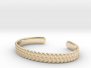 Hobnail Cuff Bracelet Large in 14K Yellow Gold