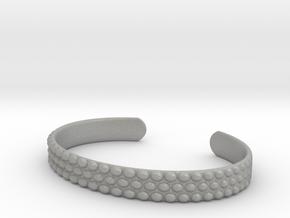 Hobnail Cuff Bracelet Large in Aluminum