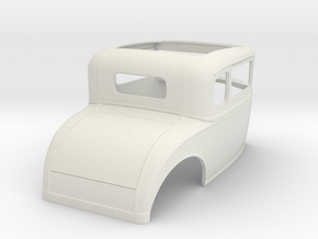 "1/8  1930 Ford Coupe, 2.5"" chop in White Natural Versatile Plastic"