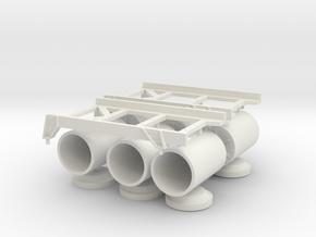 1 zu 20 WABO roll off rack in White Natural Versatile Plastic