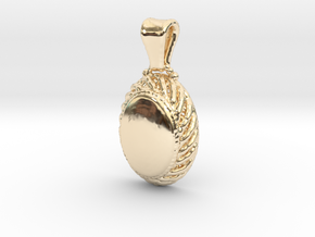 Classical Pendant in 14k Gold Plated Brass