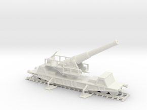 British  bl 9.2 mk 13 1/76 railway artillery ww1  in White Natural Versatile Plastic