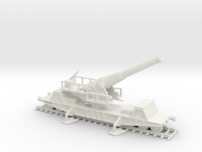 British bl 9.2 mk 13 1/160 railway artillery ww1  in White Natural Versatile Plastic