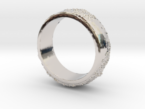 Moon Ring in Rhodium Plated Brass