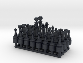 1/18 Scale Chess Pieces Sprue (Full Set) in Black PA12