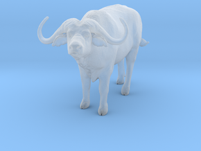 Cape Buffalo 1:45 Standing Male 2 in Smooth Fine Detail Plastic