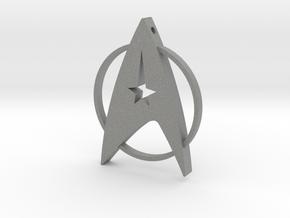 Star Trek Pendant in Gray PA12