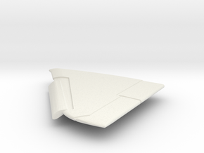 A-4E-144scale-05-LeftWing-SlatsDown in White Natural Versatile Plastic