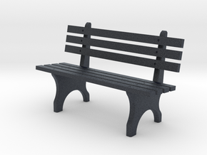Park Bench N scale in Black Professional Plastic