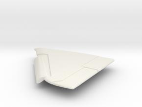 A-4F-144scale-05-LeftWing-SlatsDown in White Natural Versatile Plastic