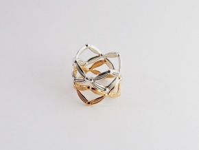 Symmetry Ring in Polished Silver: 6 / 51.5