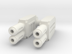 Weapons pair : Multi-gun in White Natural Versatile Plastic