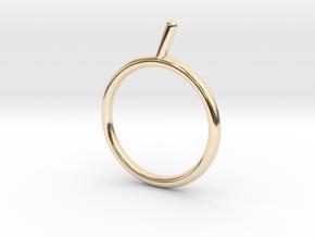 Umlaut 5 ó acute & 6 ò grave in 14k Gold Plated Brass: 3 / 44