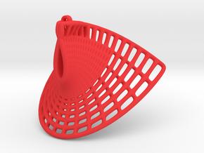 Enneper Earring (008) in Red Processed Versatile Plastic