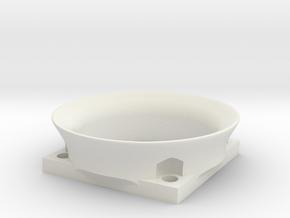 40mm fan ram in White Natural Versatile Plastic