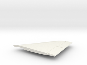 A-4M-144scale-02-RightWing-SlatsUp in White Natural Versatile Plastic