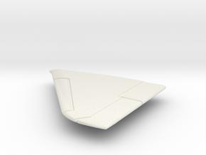 OA-4M-144scale-03-LeftWing-SlatsUp in White Natural Versatile Plastic
