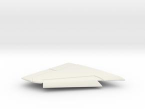 OA-4M-144scale-04-RightWing-SlatsDown in White Natural Versatile Plastic