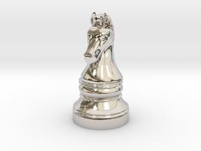 Knight - [2,1] Classic in Rhodium Plated Brass