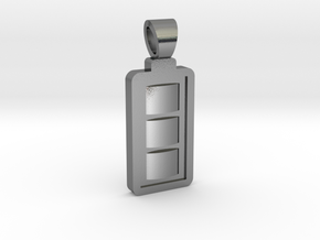 Battery [pendant] in Polished Silver