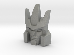 Galvatron Face, Helmet Sized (Titans Return) in Gray Professional Plastic