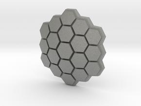 Hexagonal Energy Shield, 4mm Grip in Gray PA12