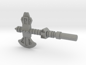 Broadside's Axe, 5mm in Gray PA12: Medium