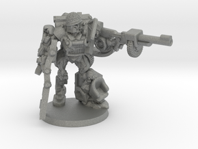 """Sarge"" - Allied WWII Mechanoid Miniature in Gray Professional Plastic"