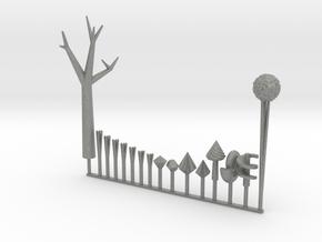 mini diorama elements - Land of Ooo in Gray Professional Plastic