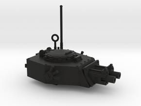 28mm APC turret x2 gyroject guns  in Black Premium Versatile Plastic
