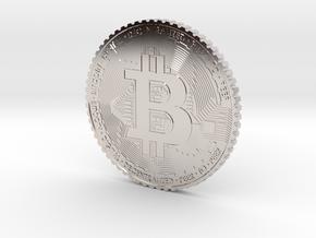 Bitcoin Coin #1 in Rhodium Plated Brass