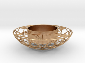 Round Tealight Holder in Natural Bronze