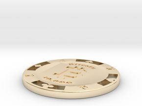 Bitcoin Poker Chip 10k in 14K Yellow Gold