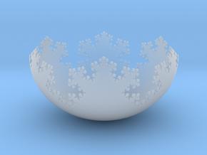 L-System Fractal Bowl in Smooth Fine Detail Plastic