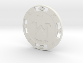 Monero Poker Chip 250 in White Natural Versatile Plastic