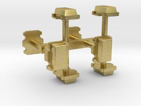 Kabelverteiler groß 8erSet 1:120 TT in Natural Brass